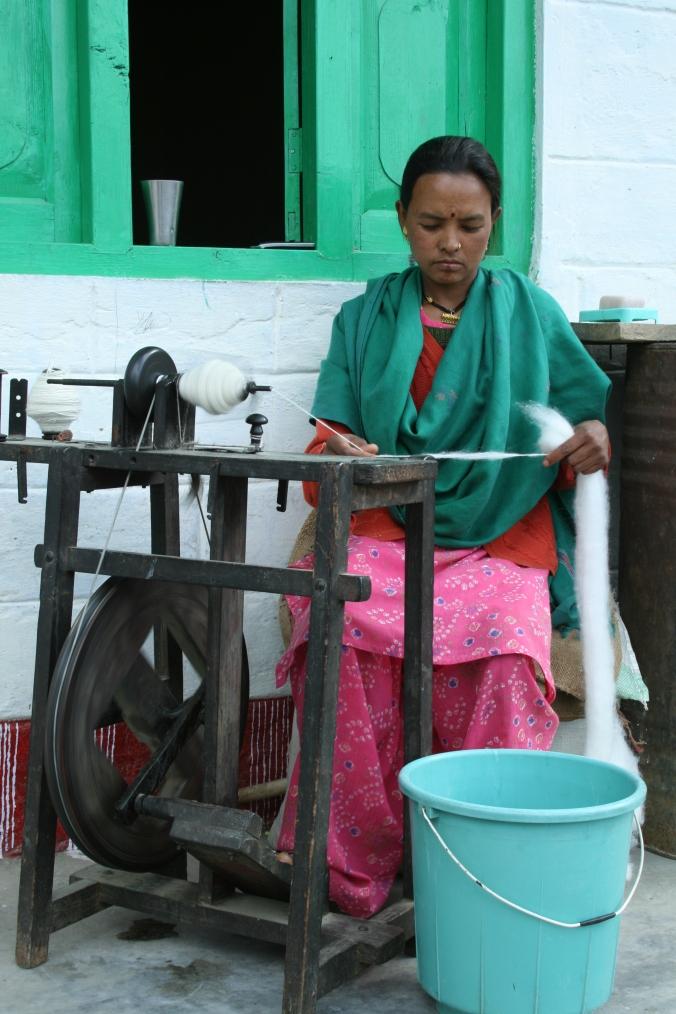 Spinning in the sunshine, Uttarakhand
