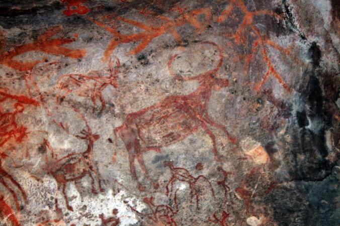 Bhimbetka cave art