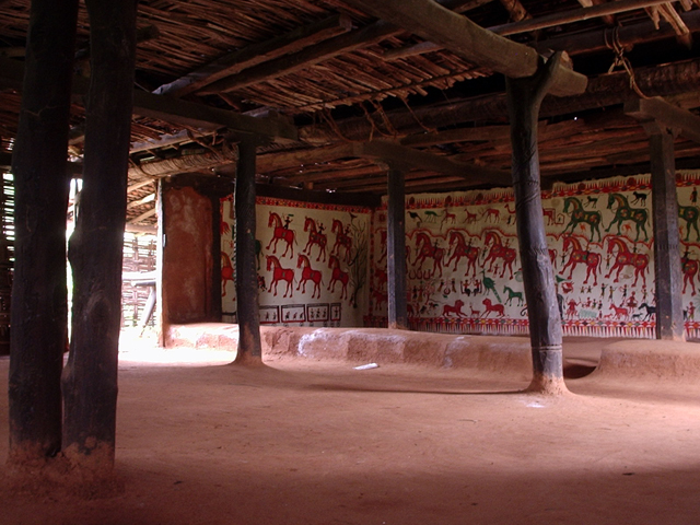 Tribal house at the museum