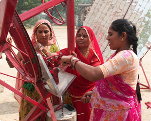 Women solar engineers at Barefoot College