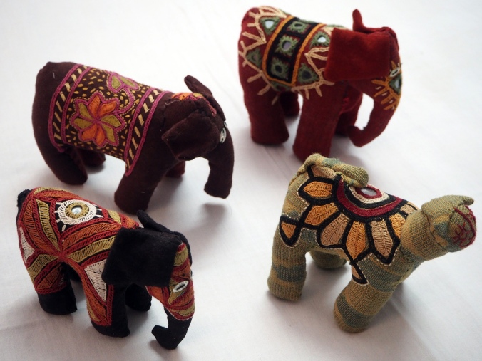 Fair trade toys using old textiles and hand embroidery.
