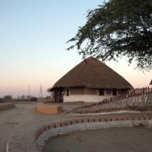 Mud cottages in desert resort, Kachcch