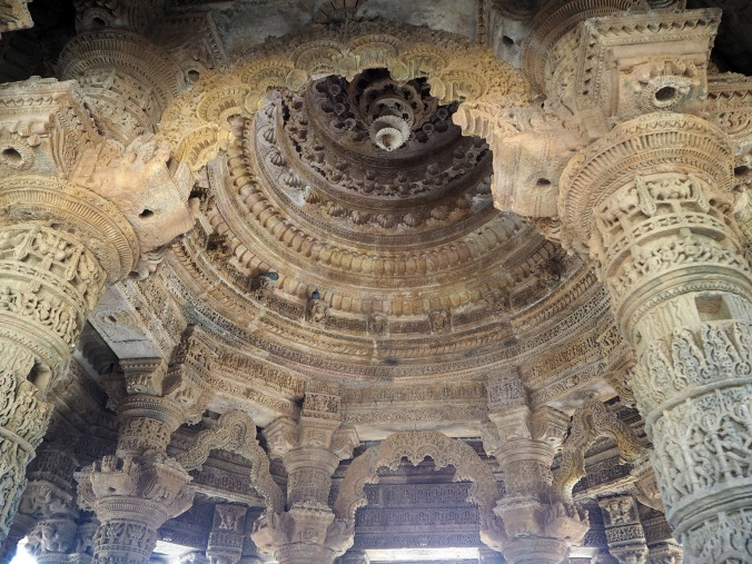 Central dome interior detail, Sabha Mandap at Sun Temple