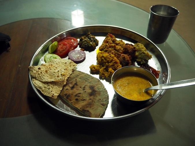 Kachchhi thali for lunch