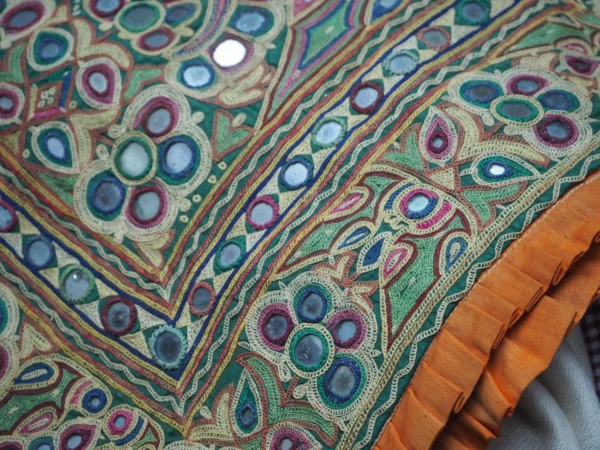 Old Kachchhi embroidered cushion covers.