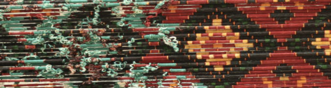 Detail of the tied threads