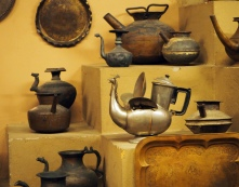Teapots at the utensils museum