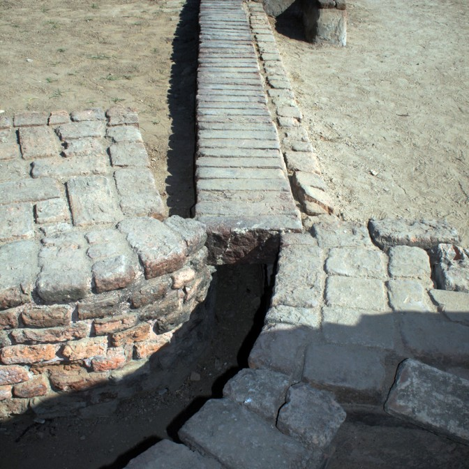 Architectural detail at ancient city of Lothal
