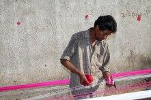 Preparing kite strings for the kite festival, Ahmedabad