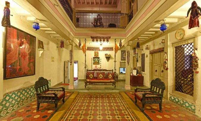 Interior Of Heritage House Ahmedabad