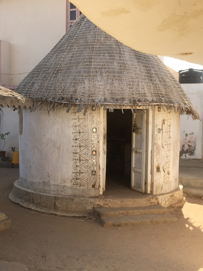 A traditional mud built and thatched bhunga.