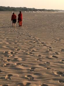 Quiet beach at Mandvi