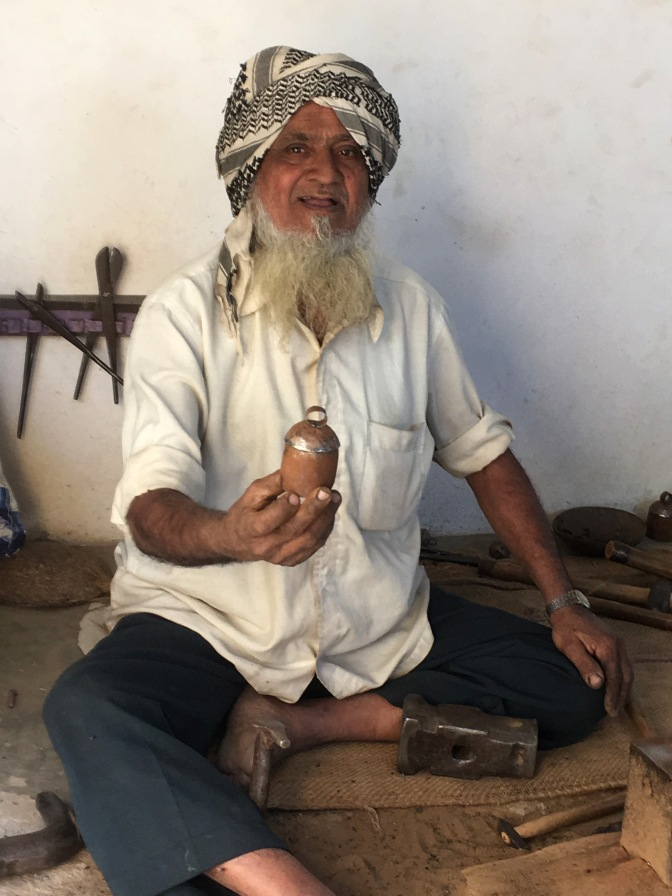 Copper bell maker in Nirona village