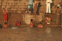 Sacred bathing in the Ganges