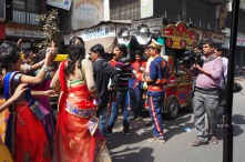 Wedding procession, Street parking, old Ahmedabad