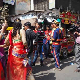 Wedding procession, Street parking, old Ahmedabad