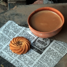 Chai and biscuit, Varanasi
