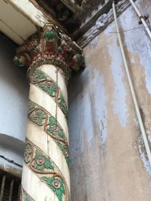 Carved wooden column in the old city, Ahmedabad