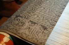 Benarsi silk jacquard weaving