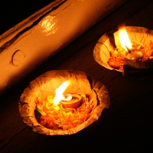 Votive candles, ganges River, Varanasi