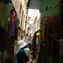 Narrow alley full of tiny shops, Varanasi