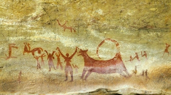 Cave art near Bundi